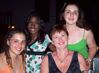 L-R: Sophie, friend Brenna, Fiona and Laura - Discover Scuba Diving