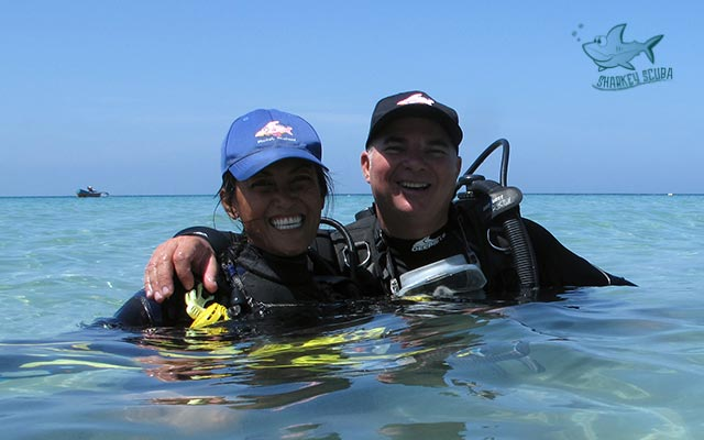 Best Phuket diving instructors - Iain and Oui