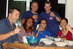 Max's (top right) Divemaster party