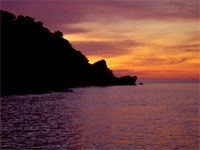 Sunset at the scenic Koh Similan islands - an experience that you will never forget